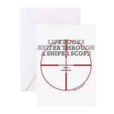 Life Through a Sniper Scope Greeting Cards (Pk of
