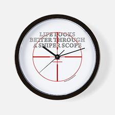 Life Through a Sniper Scope Wall Clock