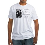 Oscar Wilde 17 Fitted T-Shirt