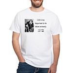 Oscar Wilde 17 White T-Shirt