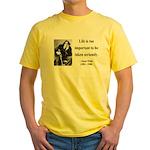 Oscar Wilde 17 Yellow T-Shirt