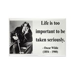 Oscar Wilde 17 Rectangle Magnet (10 pack)