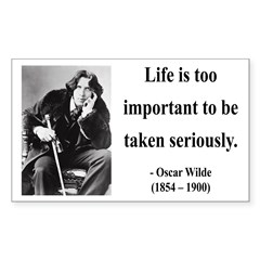 Oscar Wilde 17 Rectangle Decal
