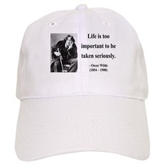 Oscar Wilde 17 Baseball Cap