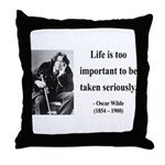 Oscar Wilde 17 Throw Pillow