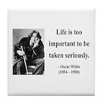 Oscar Wilde 17 Tile Coaster