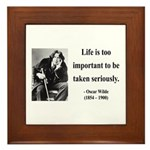 Oscar Wilde 17 Framed Tile