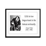 Oscar Wilde 17 Framed Panel Print