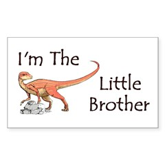 Dinosaur I'm the little brother Sticker (Rectangle