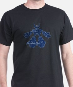 Blue Robot Body Black T-Shirt