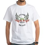 Twilight Black Swan White T-Shirt