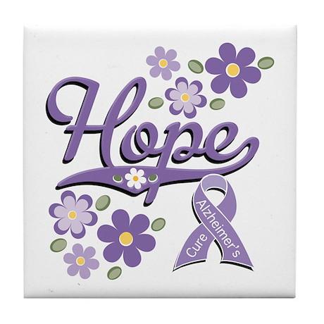 Hope Alzheimer's Tile Coaster