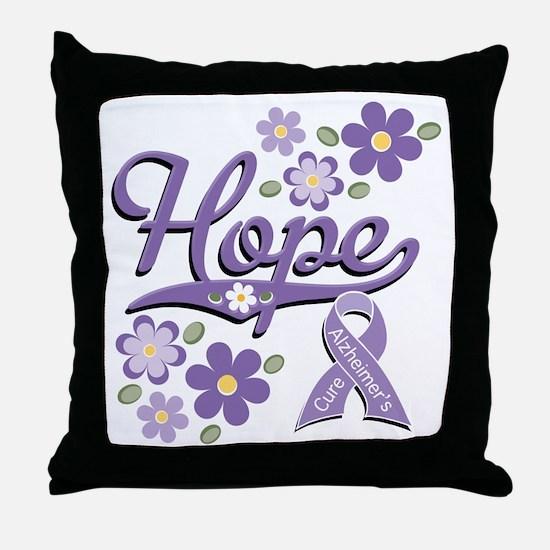 Hope Alzheimer's Awareness Throw Pillow