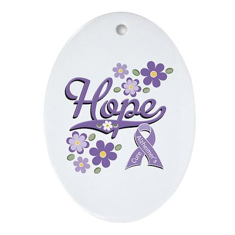 Hope Alzheimer's Awareness Oval Ornament