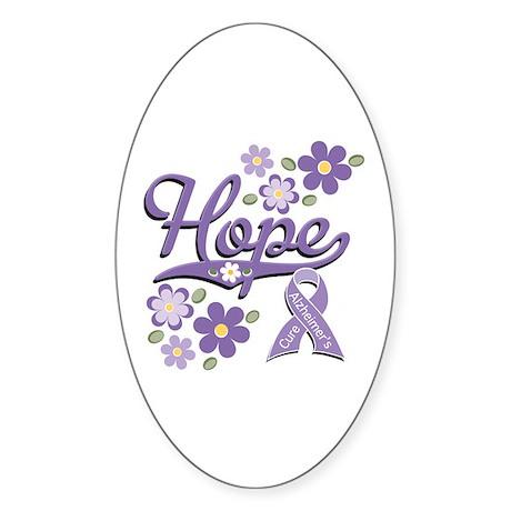 Hope Alzheimer's Oval Sticker