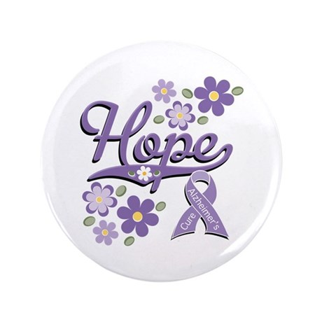 """Hope Alzheimer's Awareness 3.5"""" Button"""
