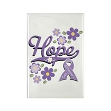 Hope Alzheimer's Awareness Rectangle Magnet