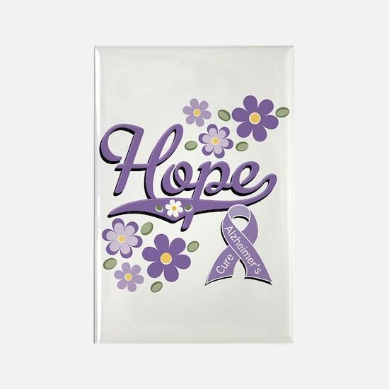 Hope Alzheimer's Awareness Rectangle Magnet