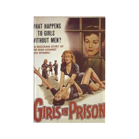 Girls in Prison Rectangle Magnet
