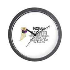 French Lick Indiana Wall Clock