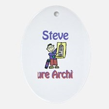 Steve - Future Architect Oval Ornament
