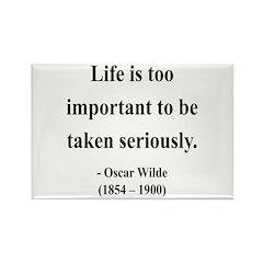 Oscar Wilde 17 Rectangle Magnet