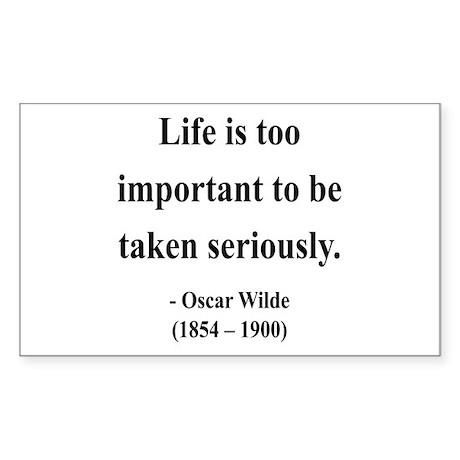 Oscar Wilde 17 Rectangle Sticker