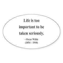 Oscar Wilde 17 Oval Decal