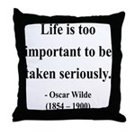Oscar Wilde 17 Throw Pillow