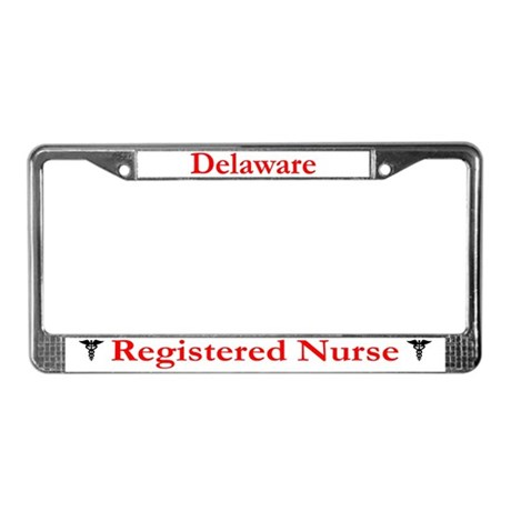 Delaware Registered Nurse License Plate Frame