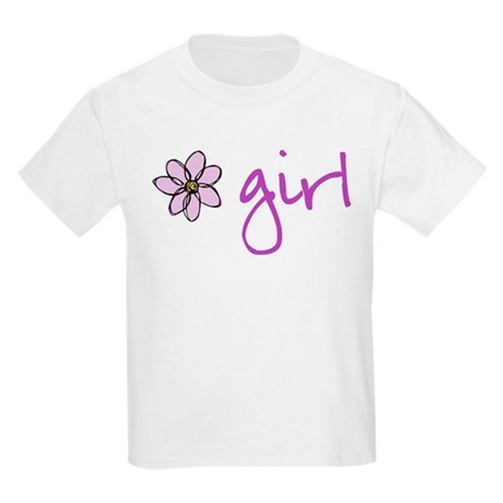 Flower Girl - Purple Kids Light T-Shirt