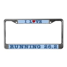 I Love Running 26.2 Marathons License Plate Frame