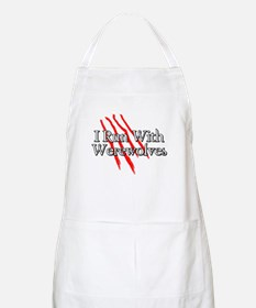 I Run With Werewolves BBQ Apron