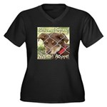 Adopt A Dog! Women's Plus Size V-Neck Dark T-Shirt