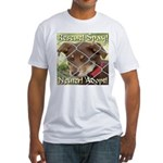 Adopt A Dog! Fitted T-Shirt