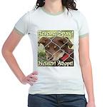 Adopt A Dog! Jr. Ringer T-Shirt