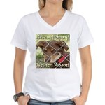 Adopt A Dog! Women's V-Neck T-Shirt
