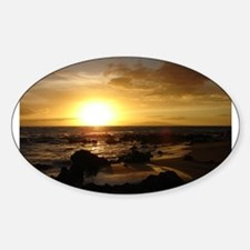 Maui Sunset Oval Decal