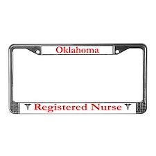 Oklahoma Registered Nurse License Plate Frame