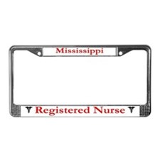 Mississippi Registered Nurse License Plate Frame