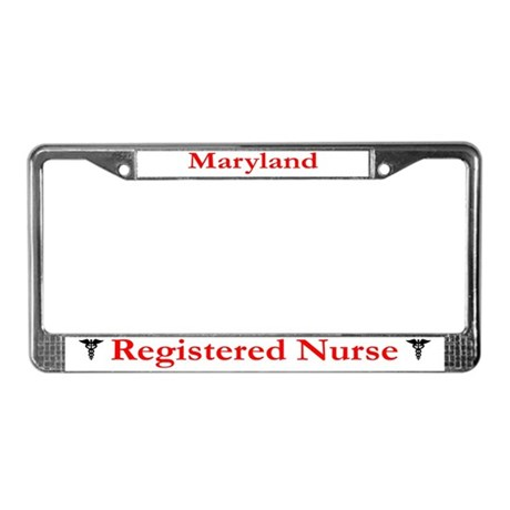 Maryland Registered Nurse License Plate Frame