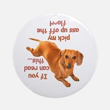 Pick Up Doxie Ornament (Round)
