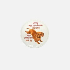 Pick Up Doxie Mini Button (10 pack)
