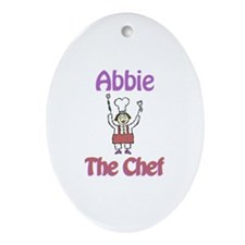 Abbie - The Chef Oval Ornament