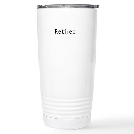 Retired Stainless Steel Travel Mug
