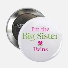 "Big Sister of Twins 2.25"" Button"