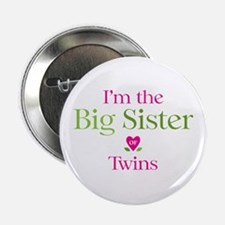 """Big Sister of Twins 2.25"""" Button (100 pack)"""