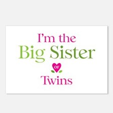 Big Sister of Twins Postcards (Package of 8)