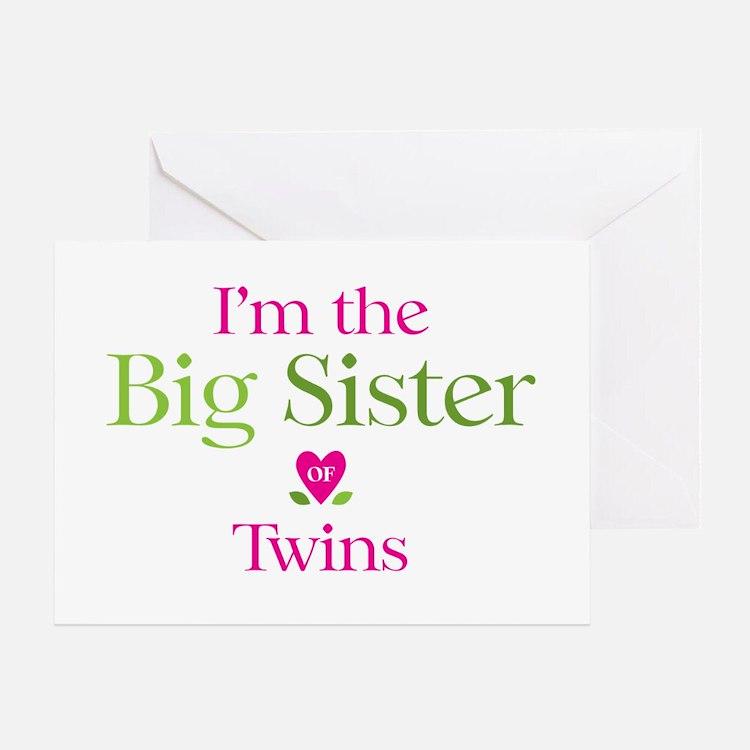 Big Sister of Twins Greeting Card