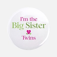 "Big Sister of Twins 3.5"" Button (100 pack)"